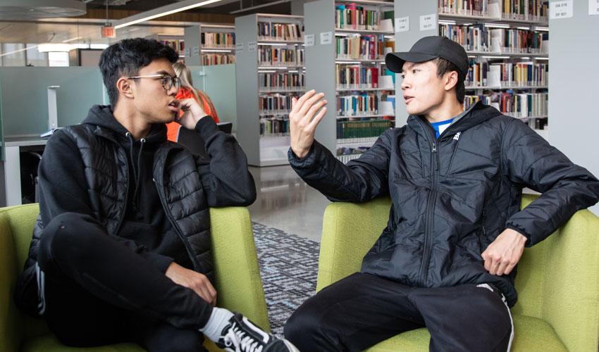 TVP students — Eugene Boceta, left, and Steven Liu.