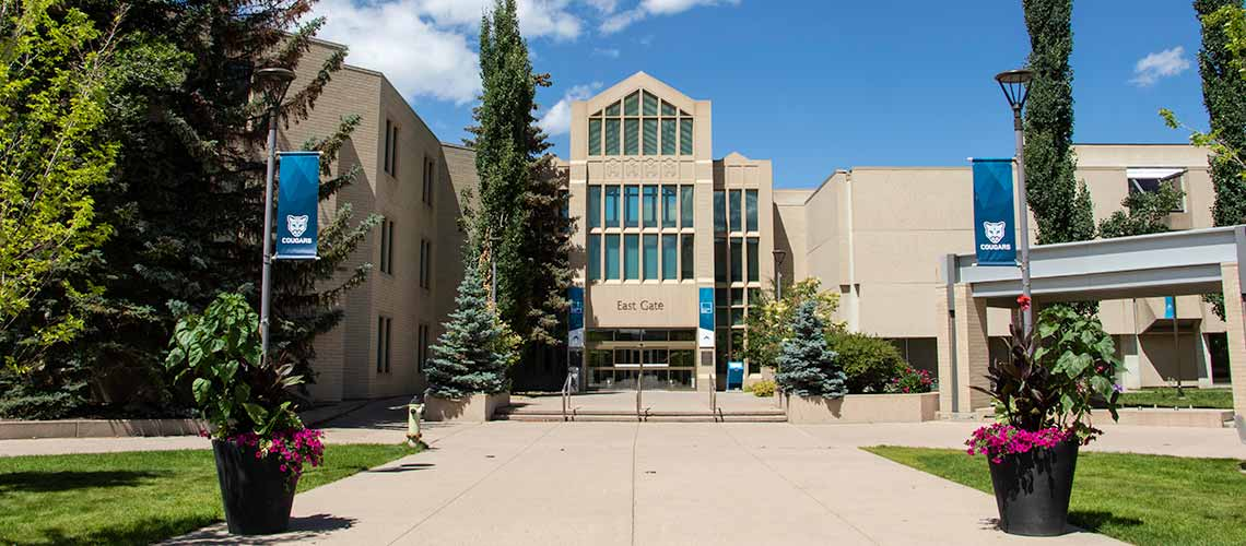 Photo of the exterior of East Gate at Mount Royal University