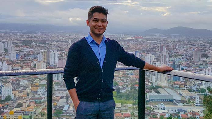 A white board with the words 'Amazon Challenge!' written
