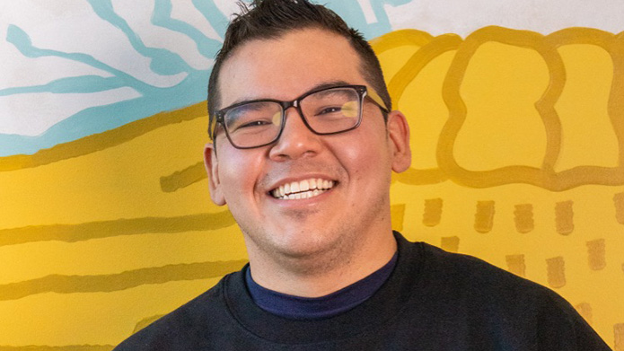 MRU student Cory Beaver at the Maanomatapoyah: First Steps event.